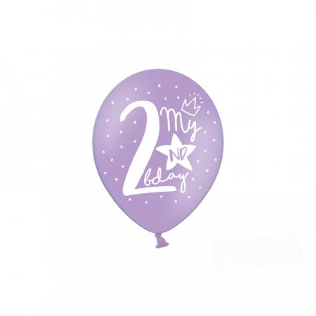 Set 6 Baloane Aniversare 2 ani - 30 cm5
