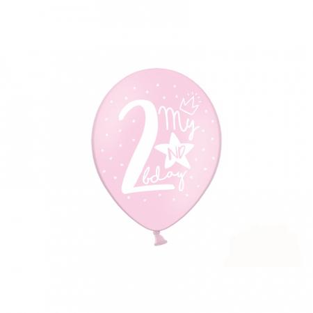 Set 6 Baloane Aniversare 2 ani - 30 cm3