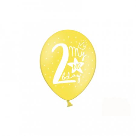 Set 6 Baloane Aniversare 2 ani - 30 cm2