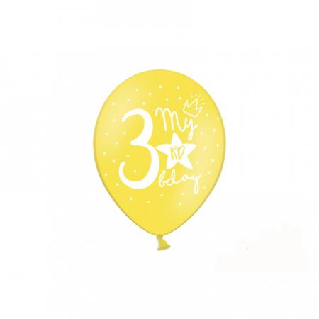 Set 6 Baloane Aniversare 3 ani - 30 cm3