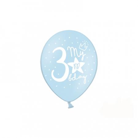 Set 6 Baloane Aniversare 3 ani - 30 cm1