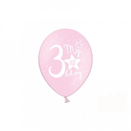 Set 6 Baloane Aniversare 3 ani - 30 cm2