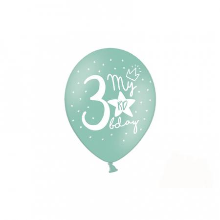 Set 6 Baloane Aniversare 3 ani - 30 cm5