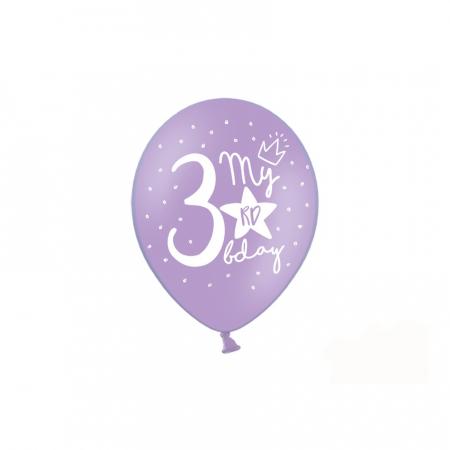 Set 6 Baloane Aniversare 3 ani - 30 cm4