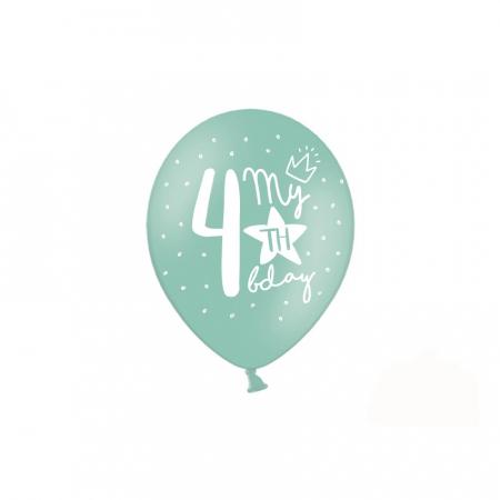 Set 6 Baloane Aniversare 4 ani - 30 cm [1]