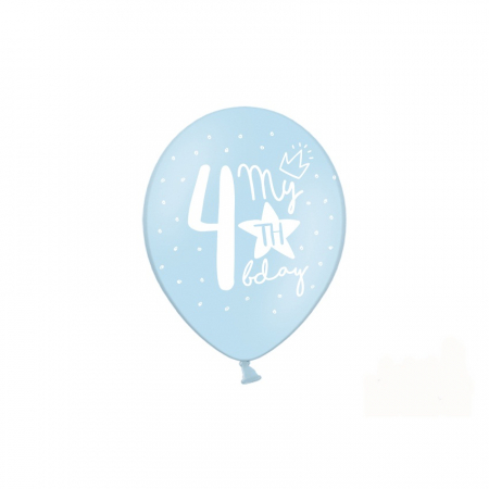 Set 6 Baloane Aniversare 4 ani - 30 cm [4]