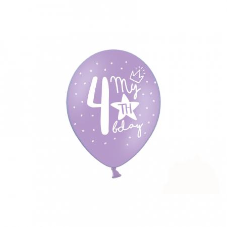 Set 6 Baloane Aniversare 4 ani - 30 cm [5]