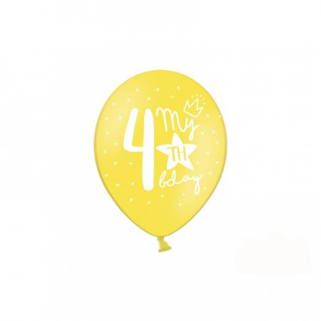 Set 6 Baloane Aniversare 4 ani - 30 cm [2]