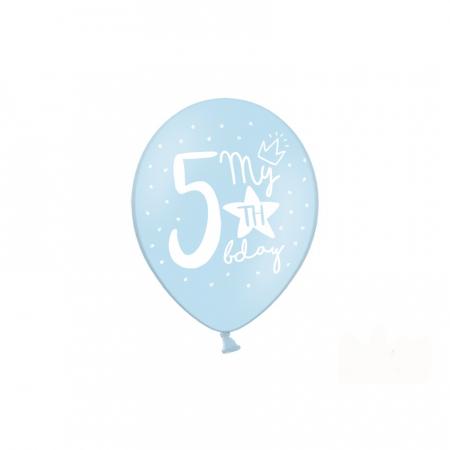 Set 6 Baloane Aniversare 5 ani - 30 cm [2]
