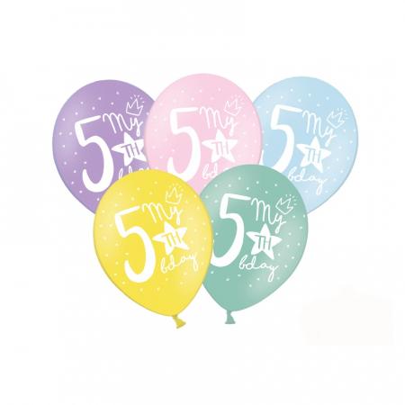 Set 6 Baloane Aniversare 5 ani - 30 cm [0]