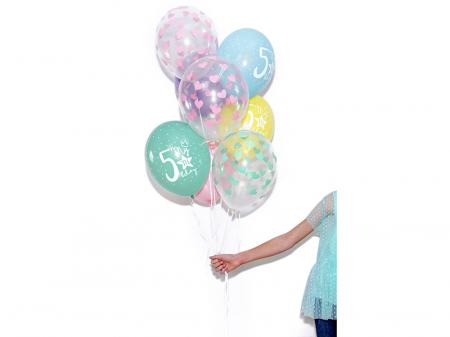 Set 6 Baloane Aniversare 5 ani - 30 cm [6]