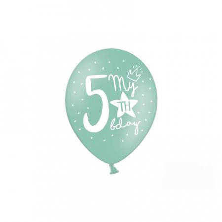 Set 6 Baloane Aniversare 5 ani - 30 cm [1]