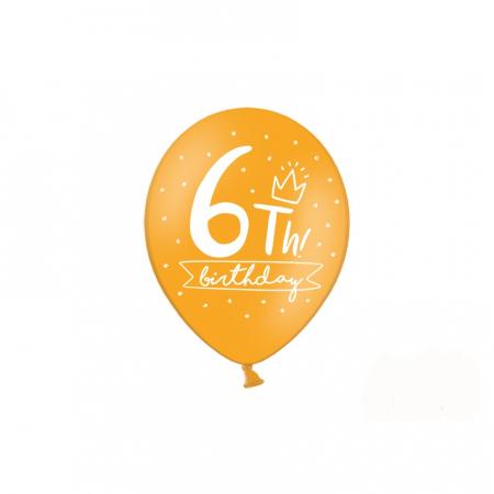 Set 6 Baloane Aniversare 6 ani - 30 cm2