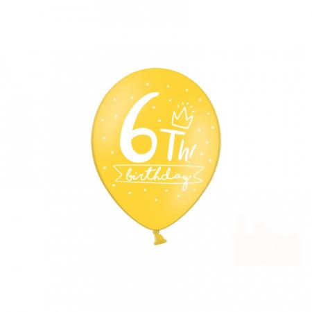 Set 6 Baloane Aniversare 6 ani - 30 cm4