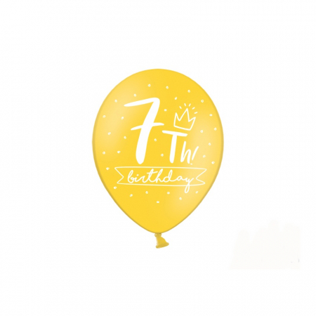 Set 6 Baloane Aniversare 7 ani - 30 cm2