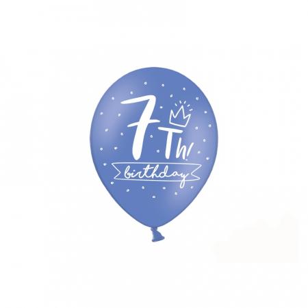 Set 6 Baloane Aniversare 7 ani - 30 cm4