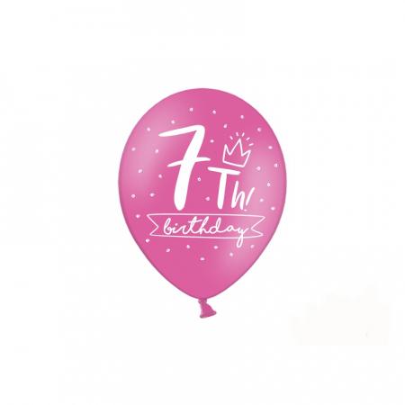 Set 6 Baloane Aniversare 7 ani - 30 cm1