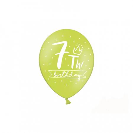 Set 6 Baloane Aniversare 7 ani - 30 cm3