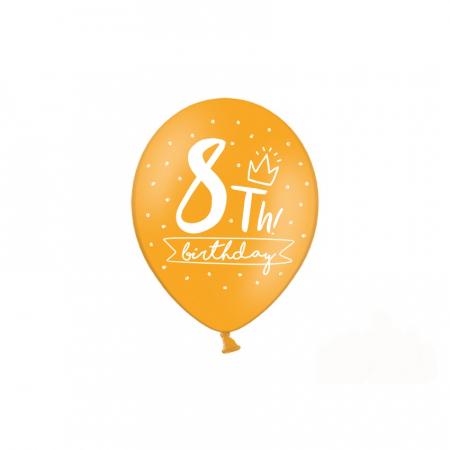 Set 6 Baloane Aniversare 8 ani - 30 cm2