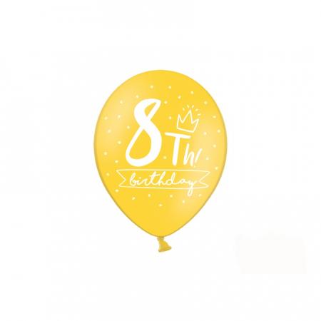 Set 6 Baloane Aniversare 8 ani - 30 cm4