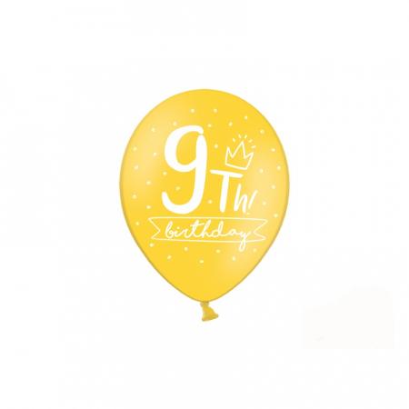 Set 6 Baloane Aniversare 9 ani - 30 cm [4]