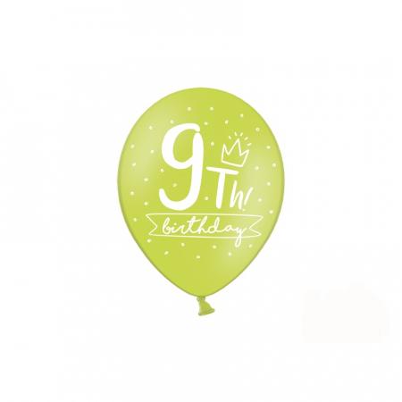 Set 6 Baloane Aniversare 9 ani - 30 cm [5]