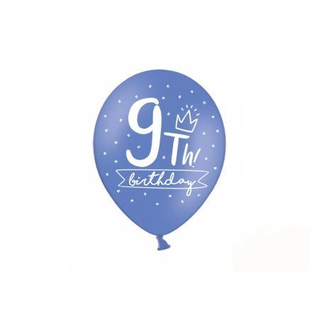 Set 6 Baloane Aniversare 9 ani - 30 cm [1]