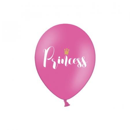 Set 6 Baloane Princess, Roz - 30 cm0