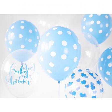 Set 6 Baloane Transparente cu inimi - 30 cm1