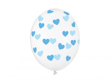 Set 6 Baloane Transparente cu inimi - 30 cm [0]