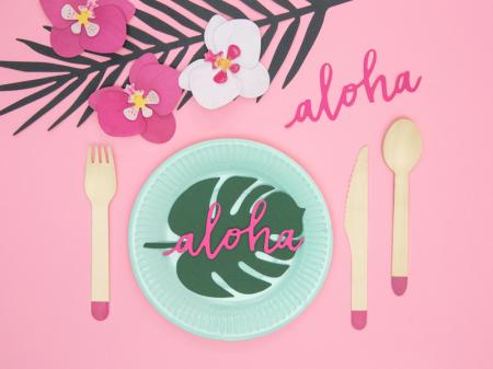 Set 6 Decoratiuni Aloha - Orhidee [2]