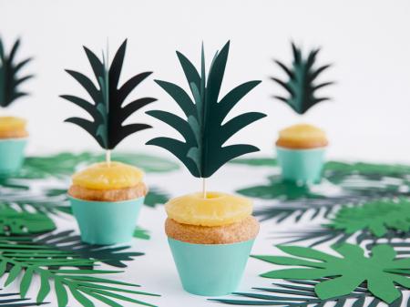 Set 6 Decoratiuni Prajitura - Ananas2