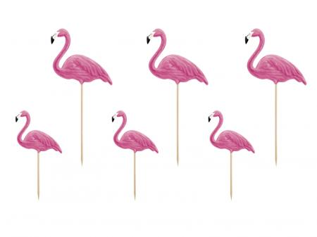 Set 6 Decoratiuni Prajitura - Flamingo0