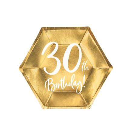Set 6 Farfurii aniversare 30 ani, 20 cm0