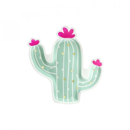 Set 6 Farfurii Cactus, 23 cm0