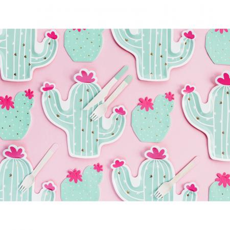 Set 6 Farfurii Cactus, 23 cm3