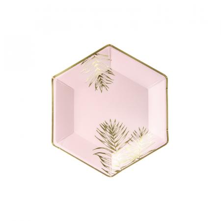 Set 6 Farfurii Frunze, 23 cm0