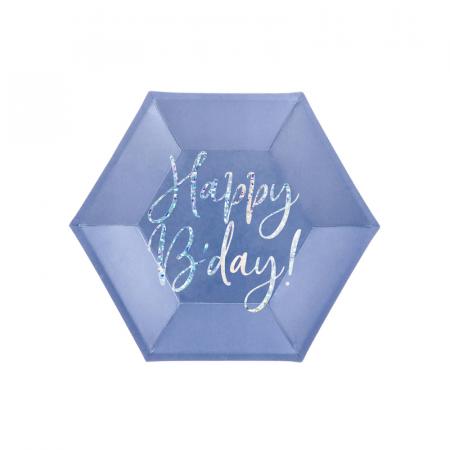 Set 6 Farfurii Happy B'Day!, 20 cm0