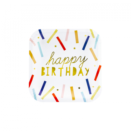 Set 6 Farfurii Happy Birthday, 20 cm [0]