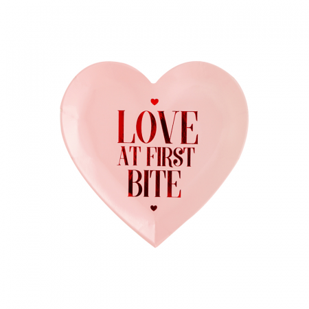 Set 6 Farfurii Love at first bite, 18.5 cm0