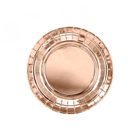 Set 6 Farfurii Rose Gold, 23 cm0