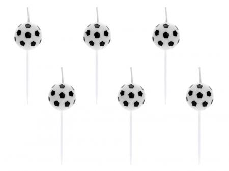 Set 6 Lumanari Minge Fotbal, 2,5 cm [0]