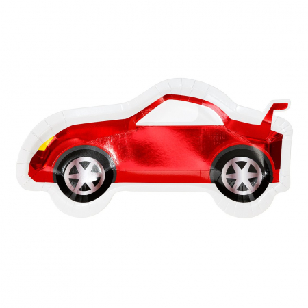 Set 8 Farfurii Masina Party Racer, 30 cm0