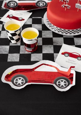 Set 8 Farfurii Masina Party Racer, 30 cm2