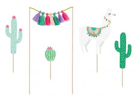 Set Decoratiuni Prajitura - Llama Party0