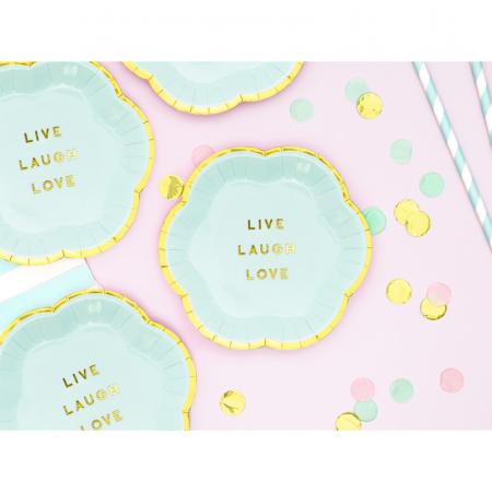 Set farfurii Yummy - Live Laugh Love 13 cm1
