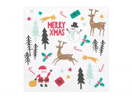 Set 20 Servetele Craciun, Merry Xmas [0]
