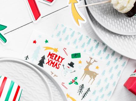 Set 20 Servetele Craciun, Merry Xmas [2]