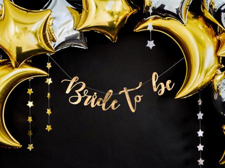 Banner Bride to Be, Auriu, 80 cm [3]