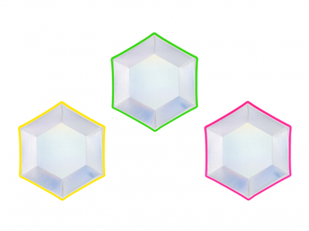 Set 6 Farfurii Holografice, 20 cm0